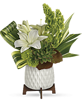 Artistic Angles Bouquet | Lilies | Same Day Flower Delivery | White | Teleflora