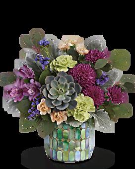 Marvelous Mosaic Bouquet | Mixed Bouquets | Same Day Flower Delivery | Purple | Teleflora
