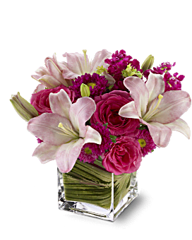 Posh Pinks Bouquet | Mixed Bouquets | Same Day Flower Delivery | Teleflora