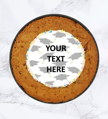 """Spots NYC 12"""" Graduation Cookie Cake Personalized"""