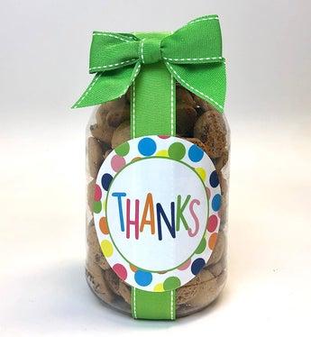 Thank You! Chocolate Chip Cookie Jar - Medium